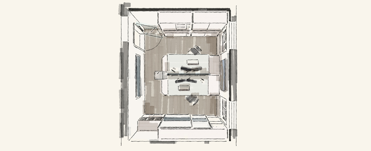 Entwurfsplanung Büromöbel